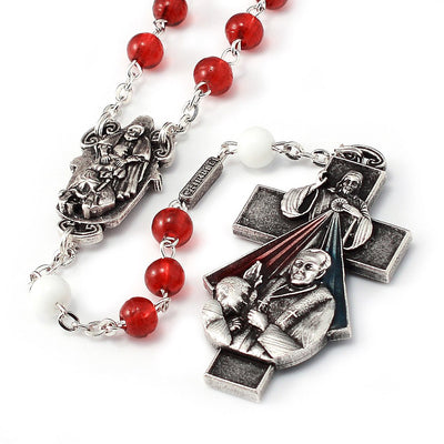 Penance and Mercy Rosary with Bohemian Glass