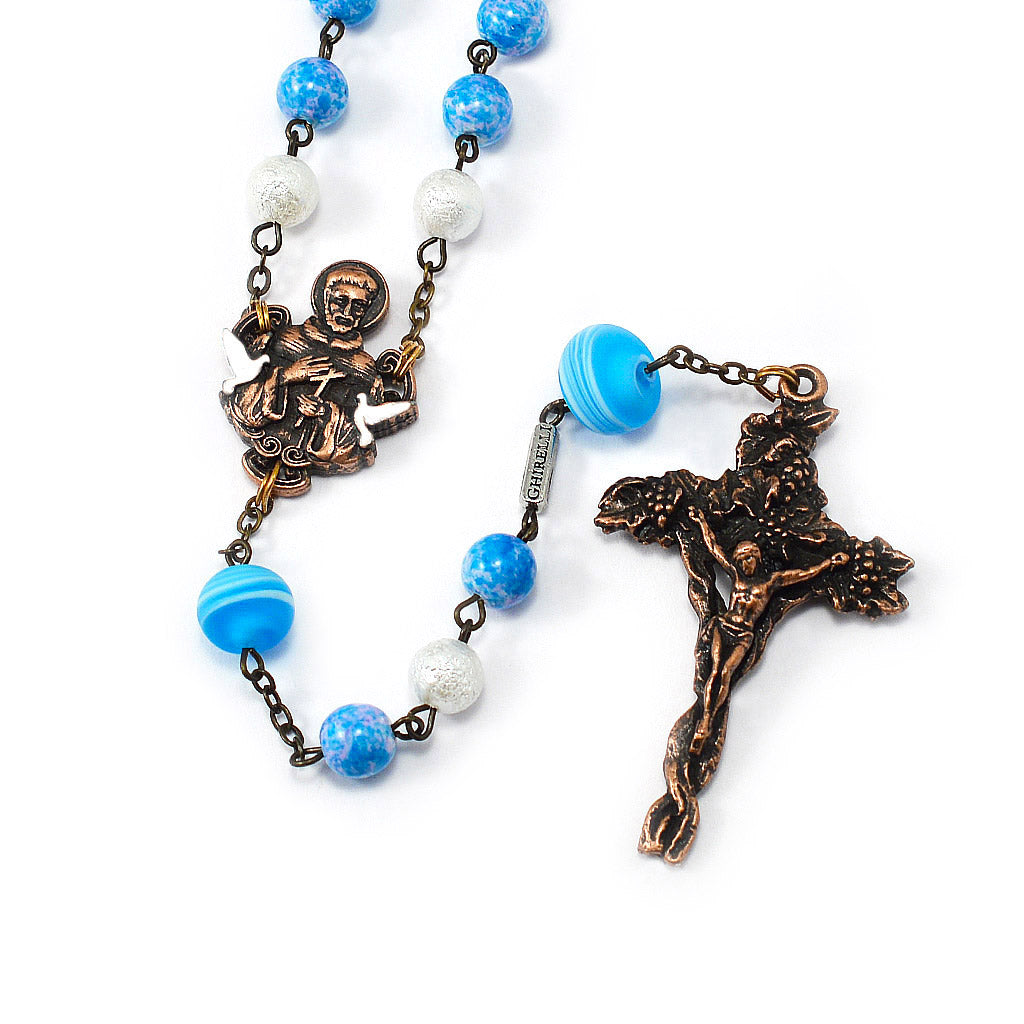 Saint Francis of Assisi Rosary with Murano Glass