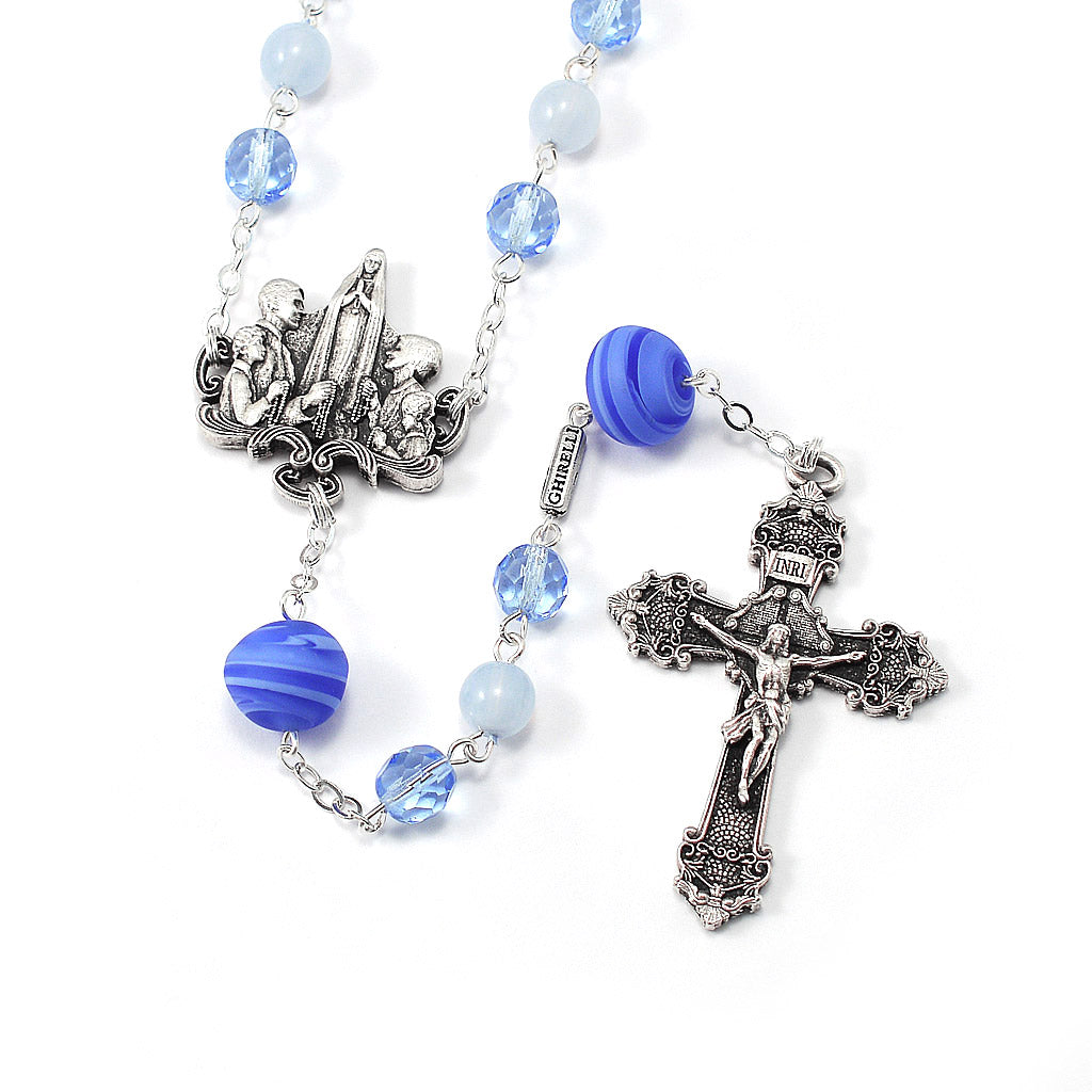 Rosaries for the Family Blue Crystal & Murano Glass