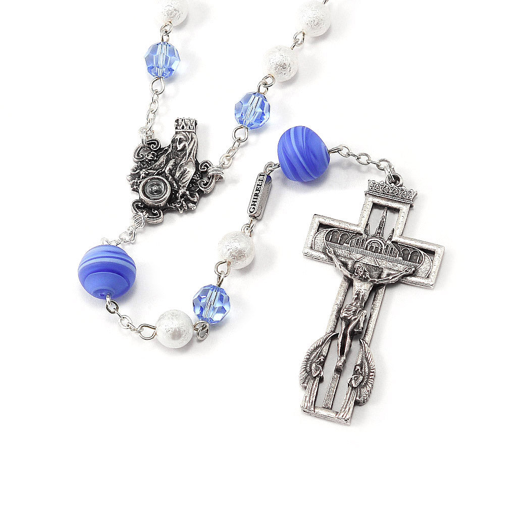 Our Lady of Lourdes 160th Anniversary Rosary with Murano and Swarovski