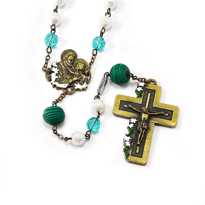 Saint Joseph Rosary with Murano Glass & Brass