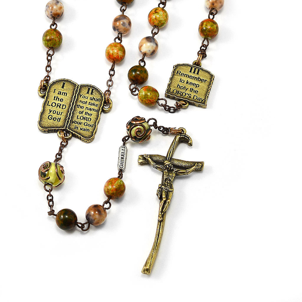 The Ten Commandments Rosary by Ghirelli