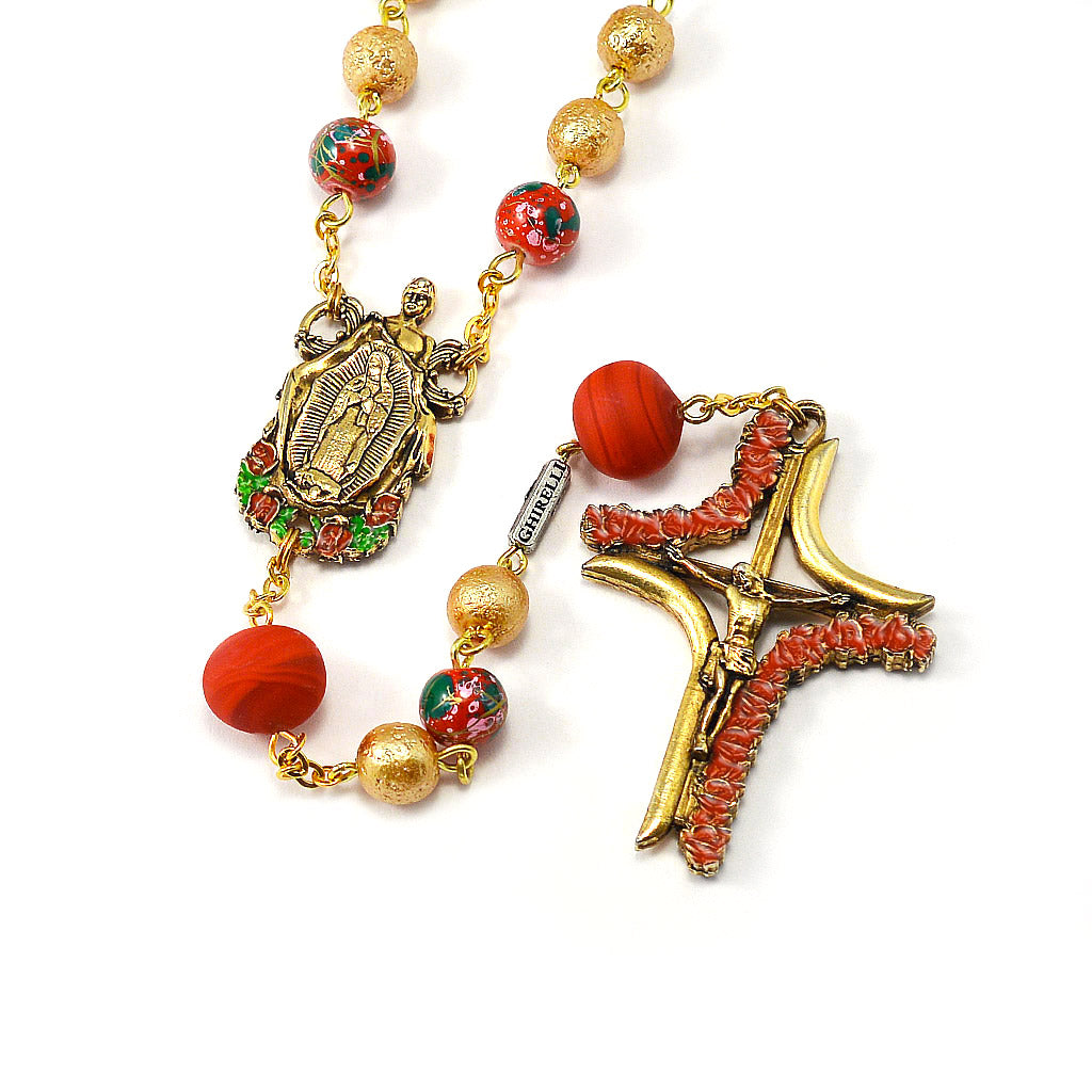 Our Lady of Guadalupe & Saint Juan Diego Rosary with Murano Glass