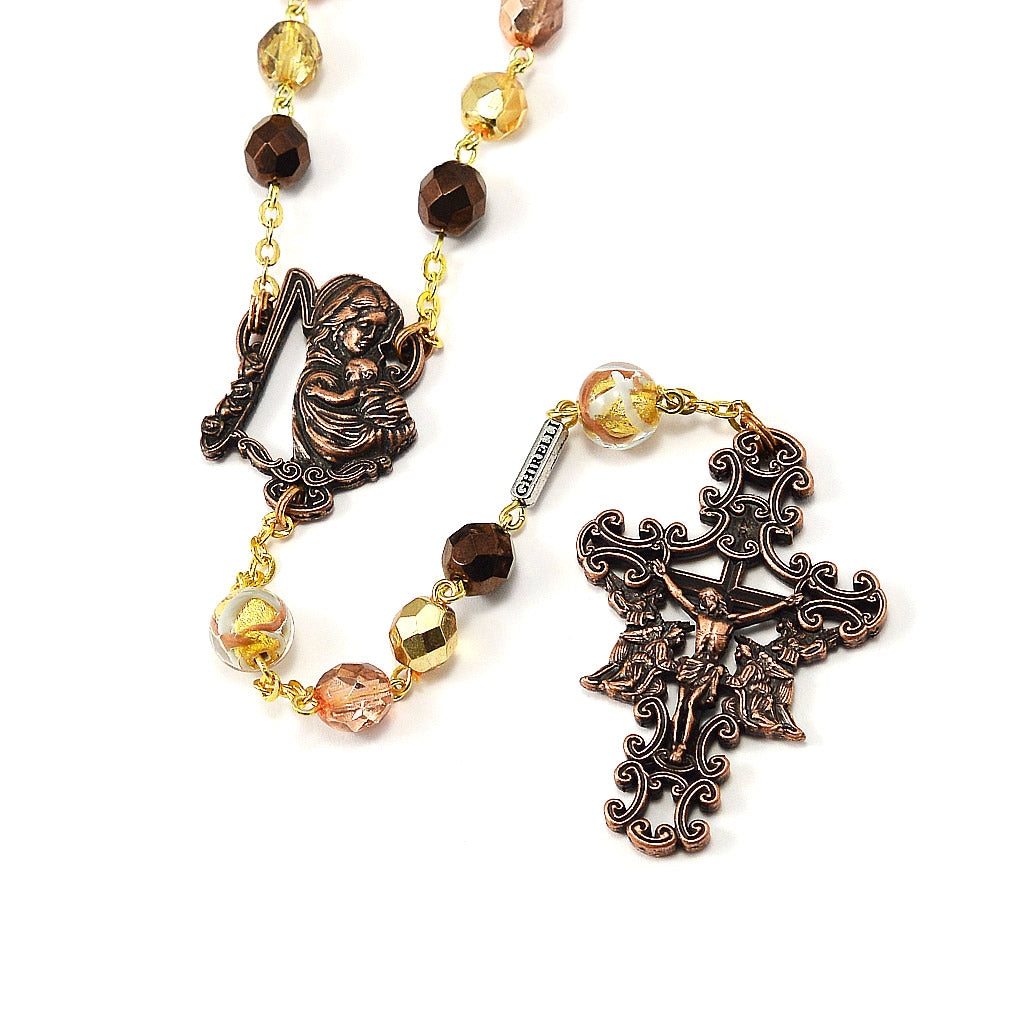 Rosaries for Women in Antique Copper