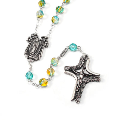 Our Lady of Guadalupe Rosary in Antique Silver