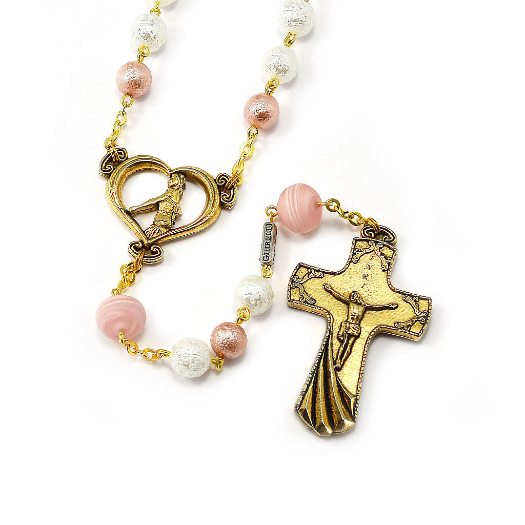 Wedding Rosary for the Bride with Genuine Murano Glass