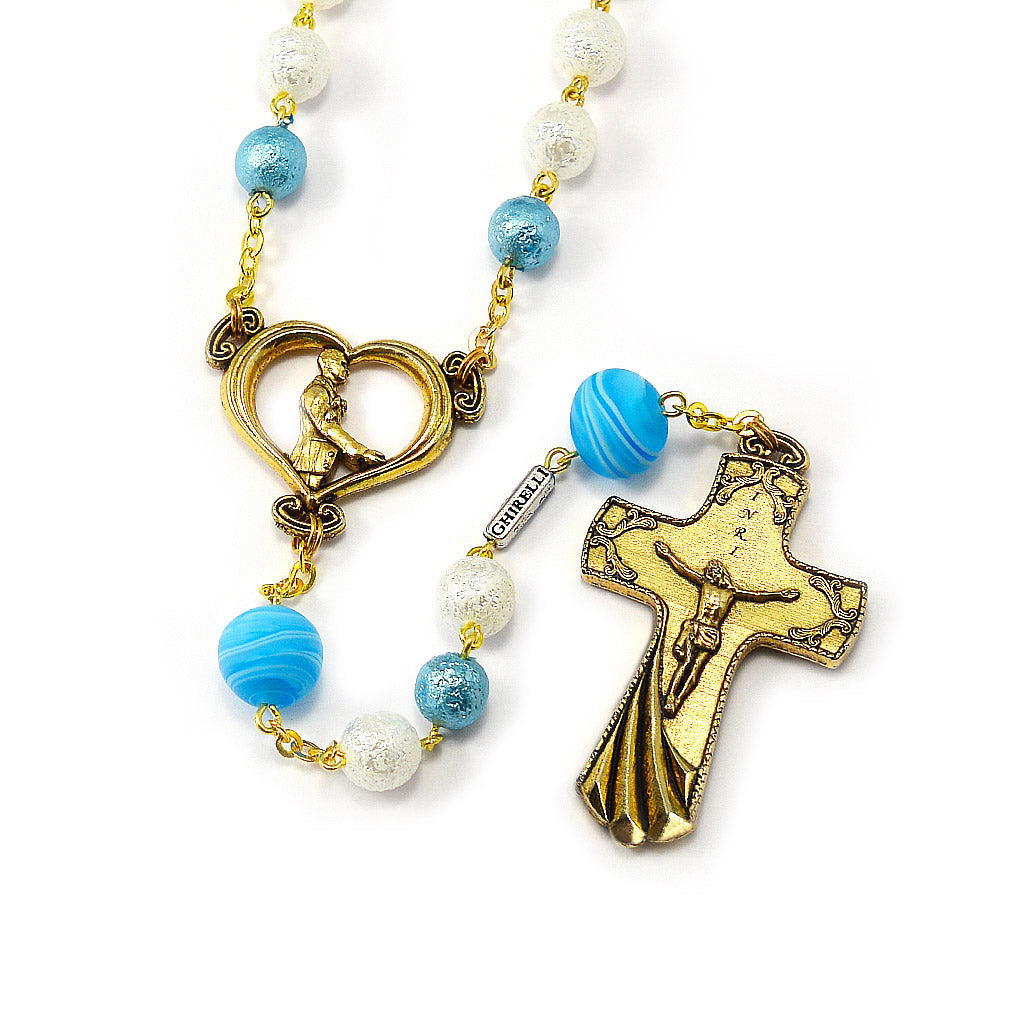 Wedding Rosary for the Groom with Genuine Murano Glass