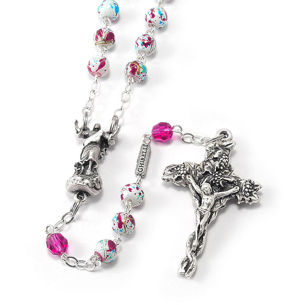 Resurrection Rosary with Paint Splatter Beads