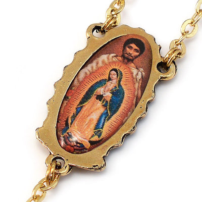 Our Lady of Guadalupe Rosary, Blue & Gold
