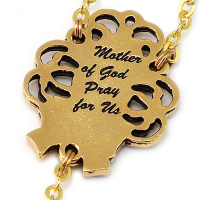 Mary's Motherly Love Collection Gold Rosary