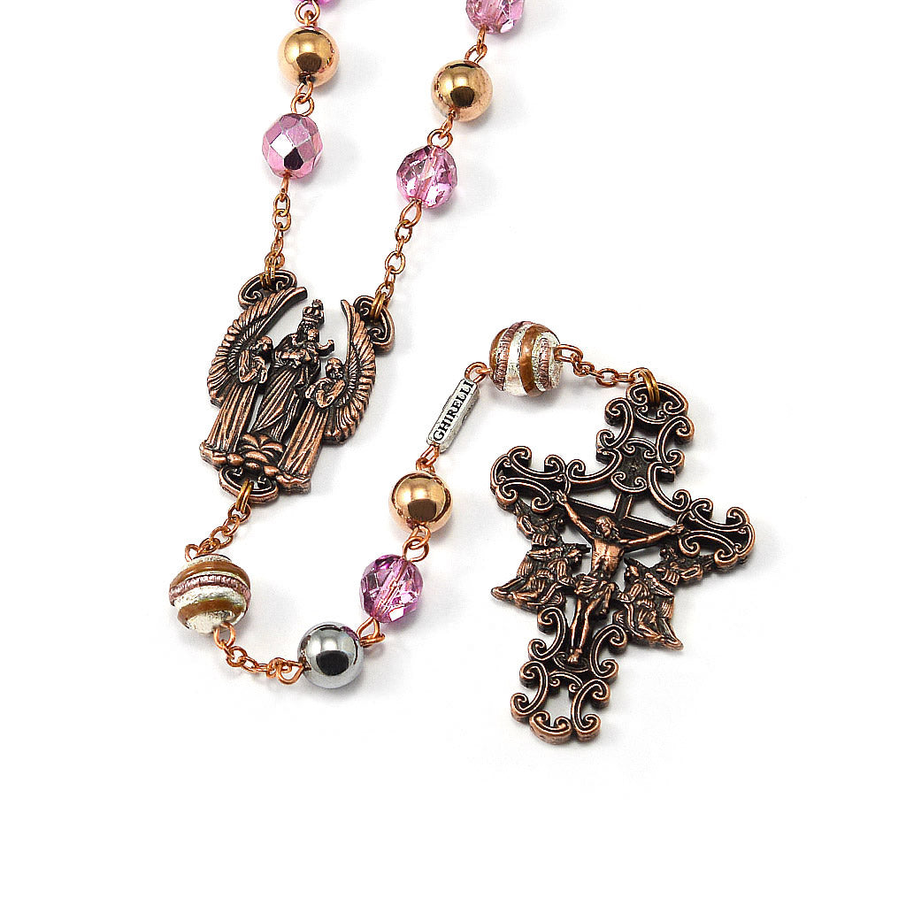 The Holy Angels Rosary in Antique Copper