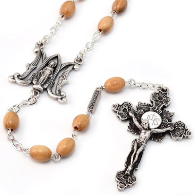 Annunciation Rosary, Wood & Silver