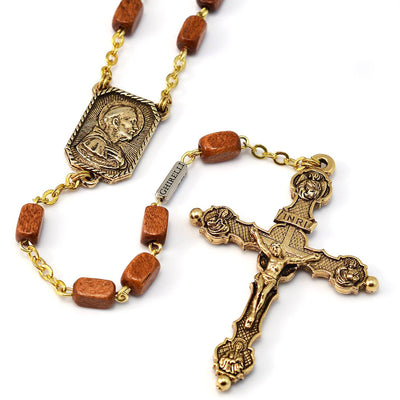 Saint Francis of Assisi Gold Rosary