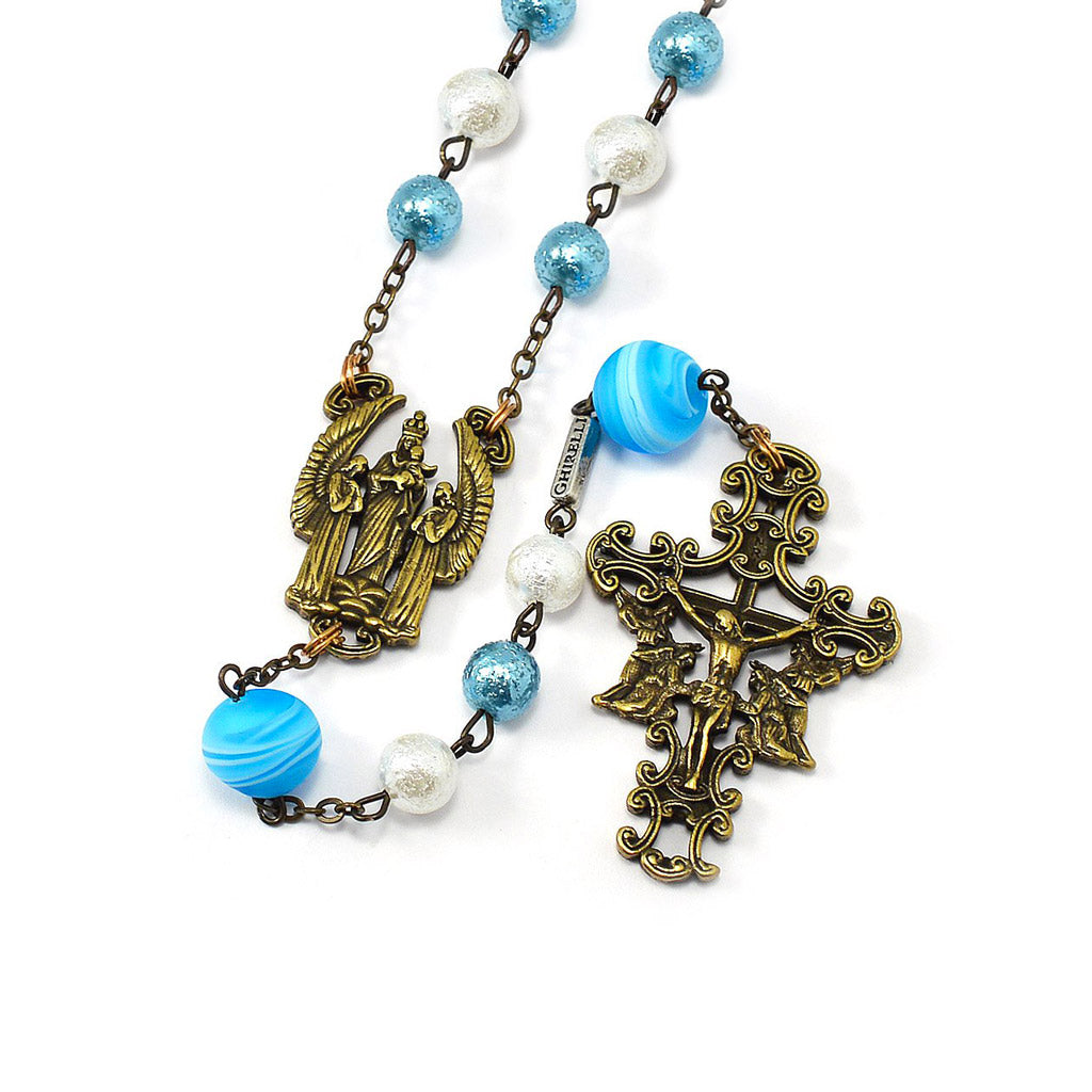The Holy Angels Rosary in Antique Bronze