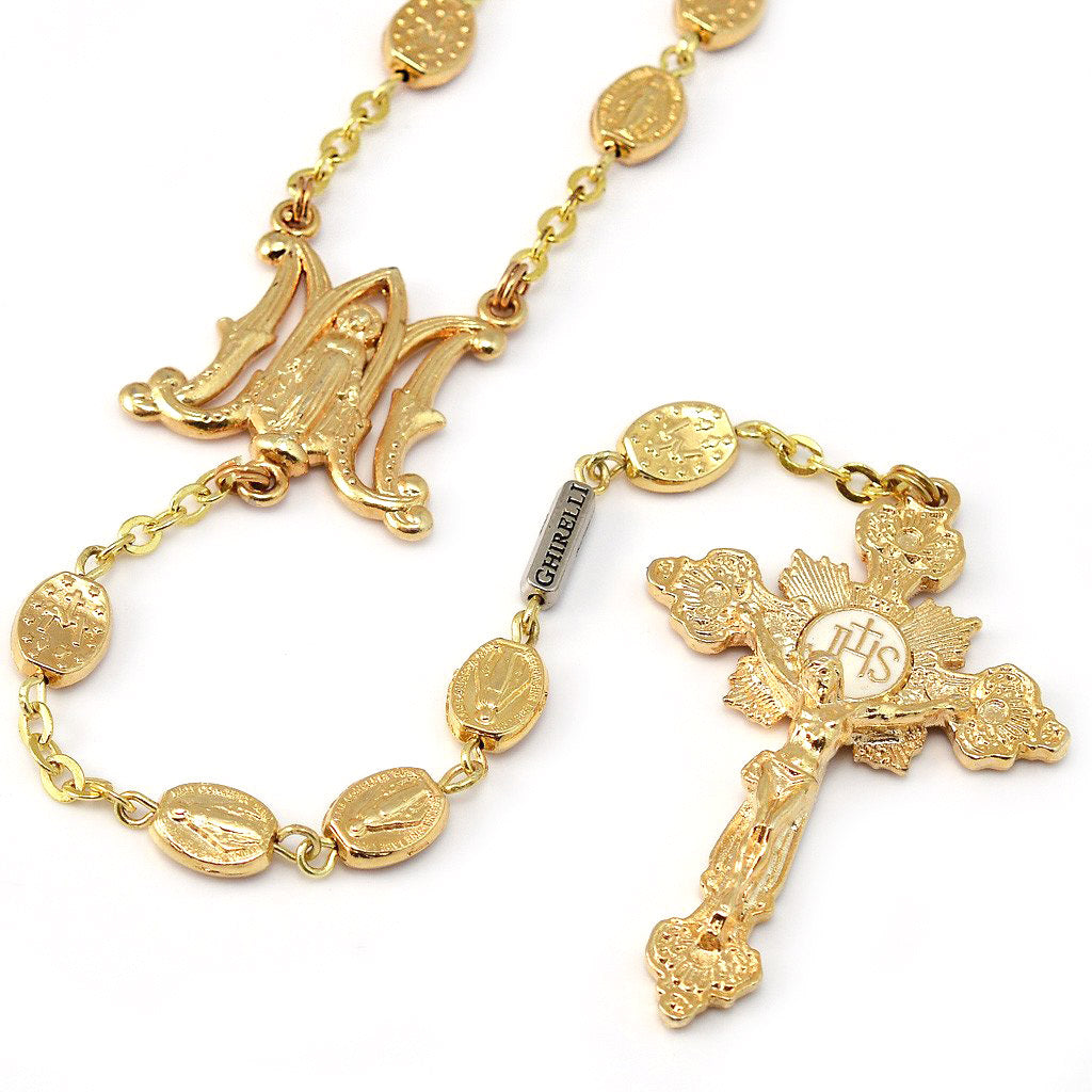Miraculous Medal Gold Rosary
