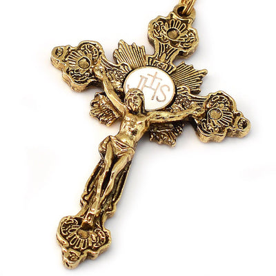 Fatima Crown of Roses Gold Rosary