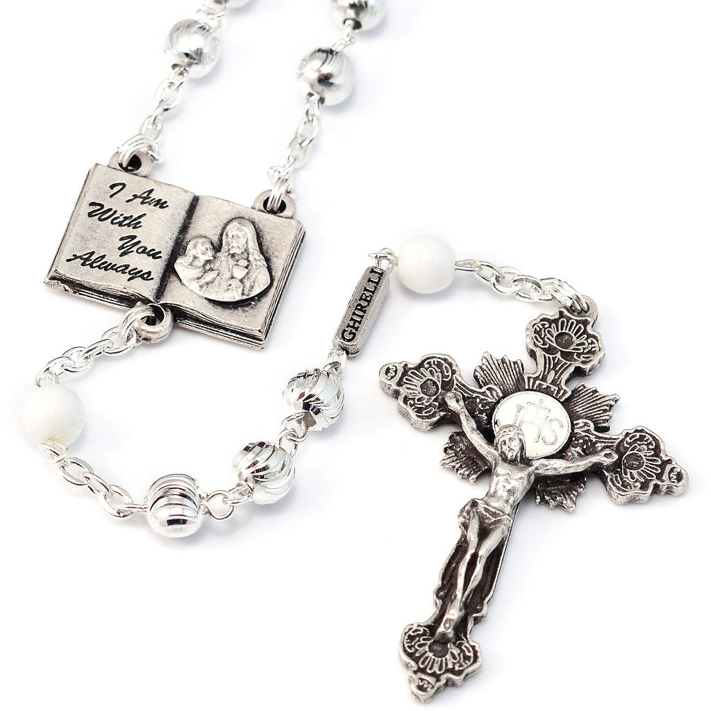 Holy Communion Book of Life Metal Rosary