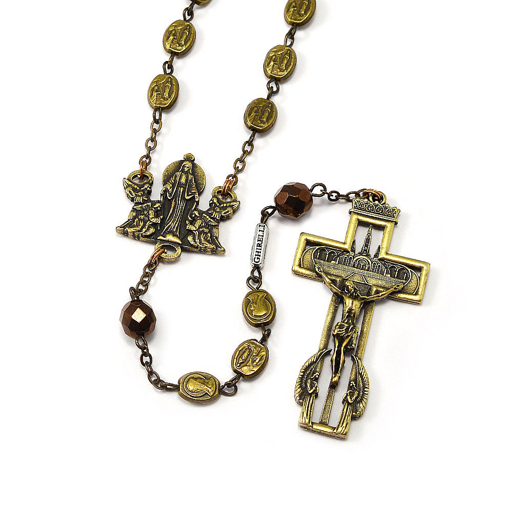 Our Lady of Lourdes 160th Anniversary Rosary, Antique Bronze