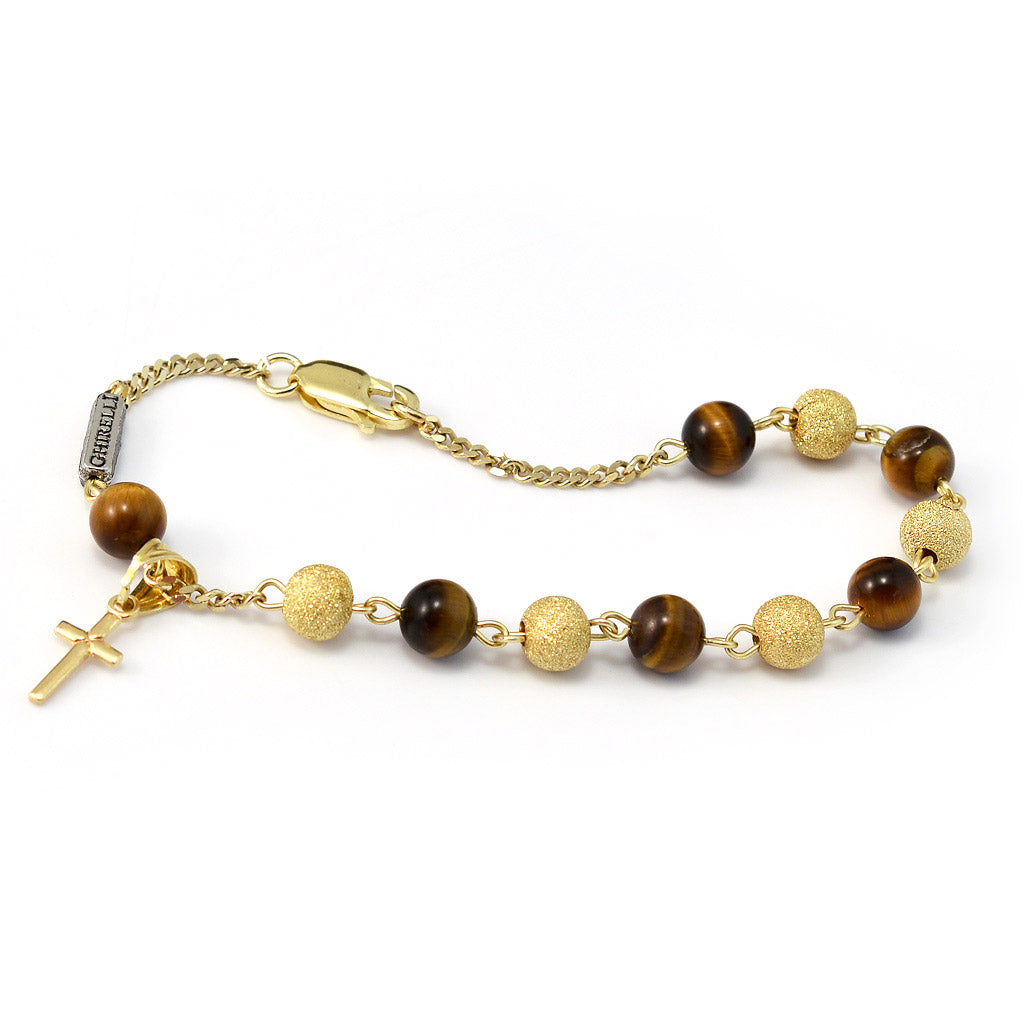 Precious Tiger's Eye & Gold Bracelet