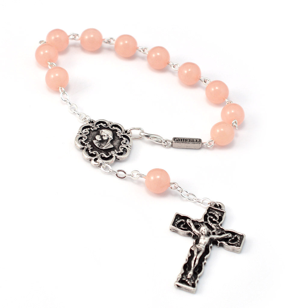 Motherly Embrace Decade Rosary, Blush