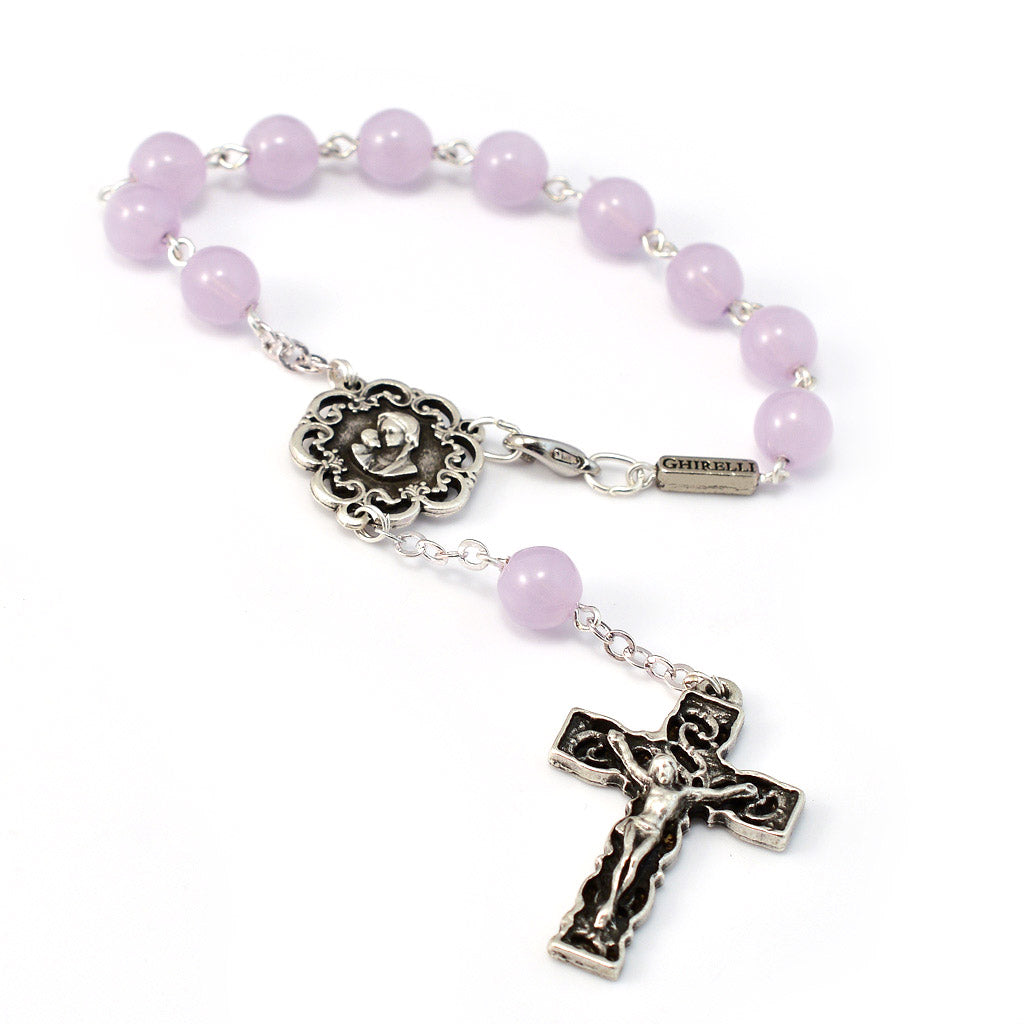 Motherly Embrace Decade Rosary, Lilac
