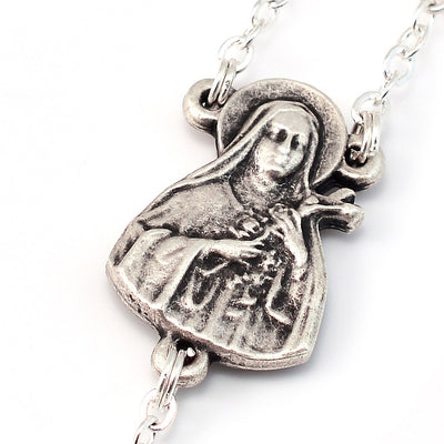 Saint Therese of Lisieux Ghirelli Silver Decade Rosary