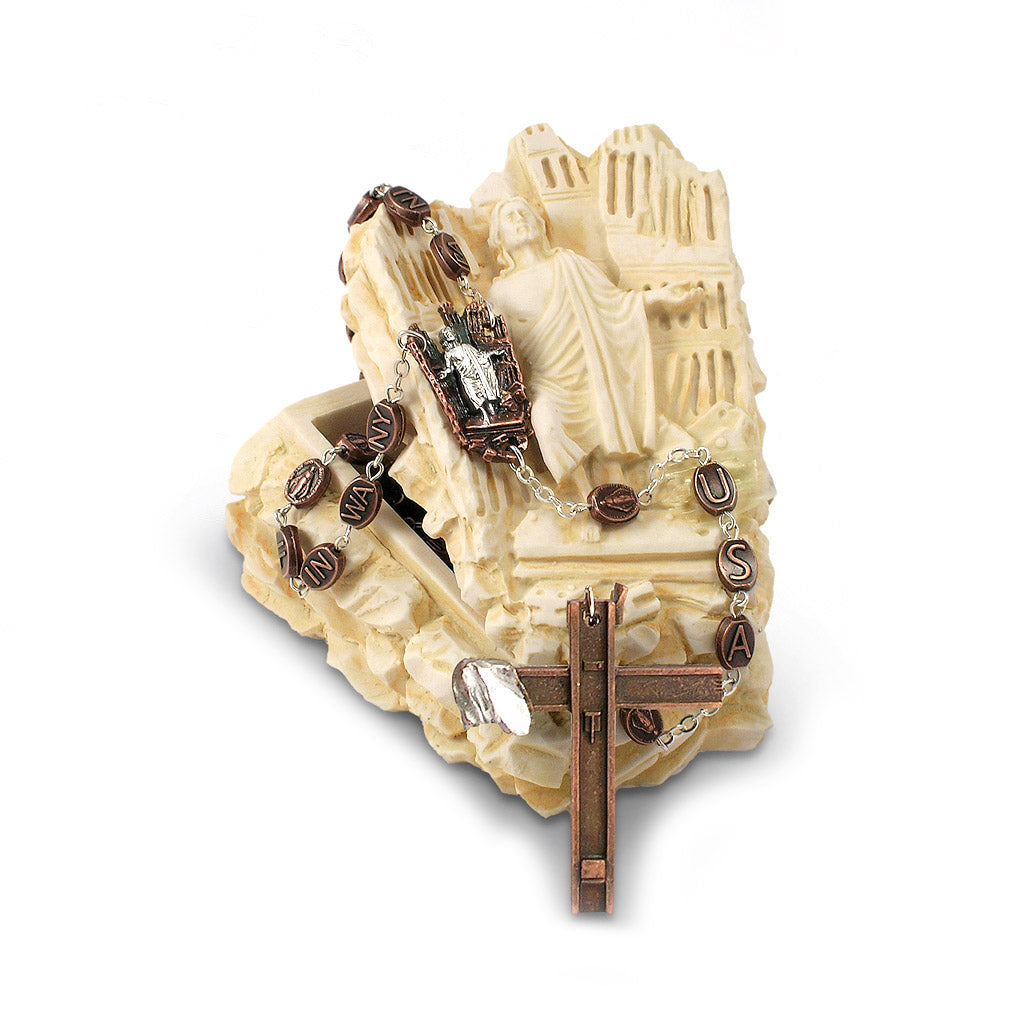 Remembrance 9/11 Rosary Keepsake Box