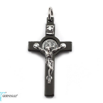 Saint Benedict Crucifix in Polished Gunmetal by Germoglio x Ghirelli, Small