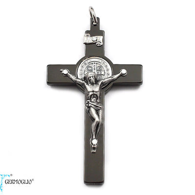 Saint Benedict Crucifix in Polished Gunmetal by Germoglio x Ghirelli, Large