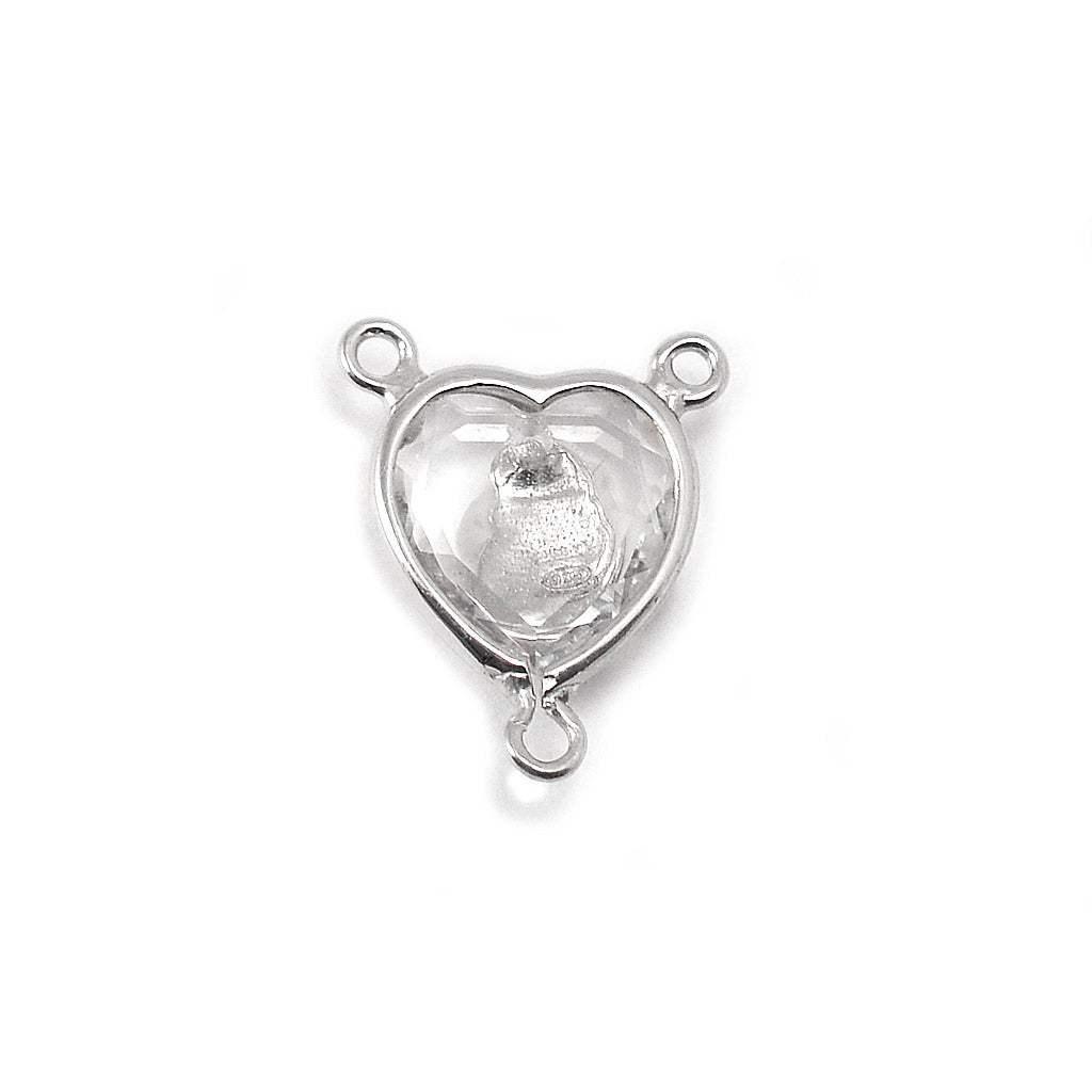 Aurora Borealis Crystal Cross Pendant with Swarovski & Sterling Silver