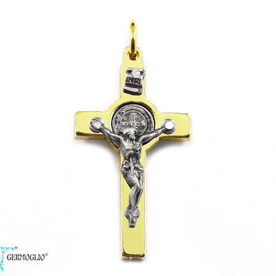 Saint Benedict Crucifix in Polished Gold by Germoglio x Ghirelli, Small