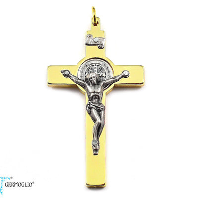 Saint Benedict Crucifix in Polished Gold by Germoglio x Ghirelli, Large