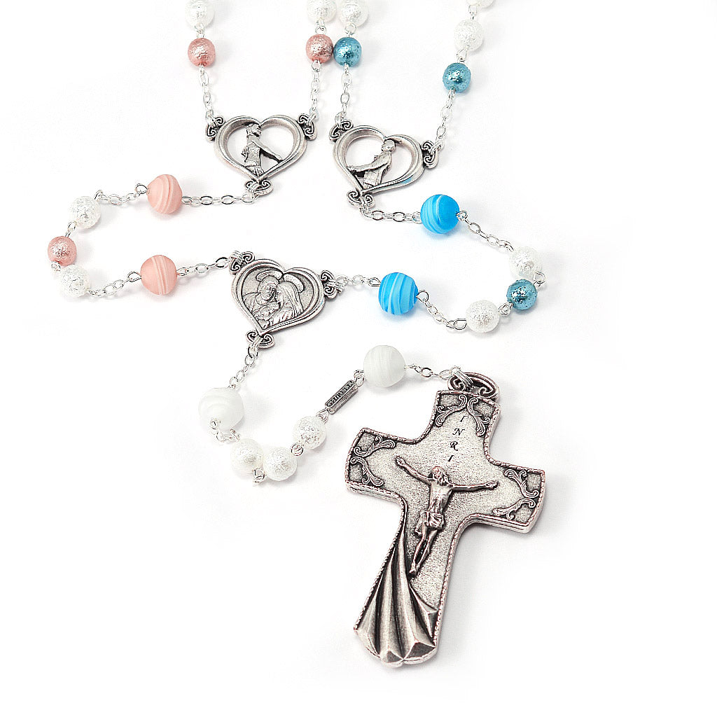 El Lazo Wedding Lasso Rosary with Murano Glass