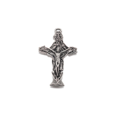 Crystal Lourdes Rosary with Aquamarine Swarovski & Sterling Silver
