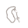 Magnificat Rosalet® - Square Sterling Silver and Pave Pater Beads, Modern