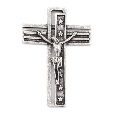 The USA Rosary - Silver with Black Glass