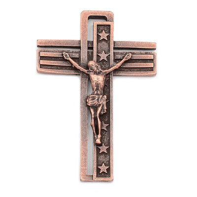 The USA Rosary - Copper with Black Glass