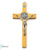 Saint Benedict Crucifix Wall Cross in Italian Olivewood by Germoglio x Ghirelli