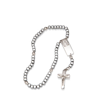 Magnificat Rosalet® - Square Sterling Silver Beads, Traditional