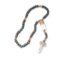 Magnificat Rosalet® - Square Polished Hematite Beads, Rose Gold Pater Beads, Modern