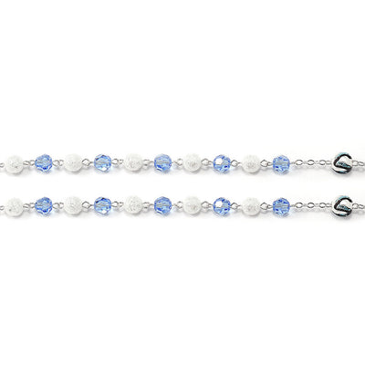 Wedding Rosary for the Groom with Genuine Swarovski