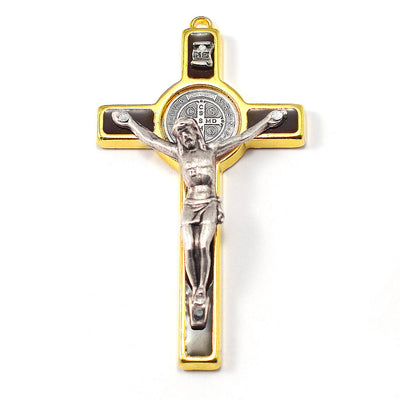 Saint Benedict Locket Rosary with Murano, Inlay & Gold
