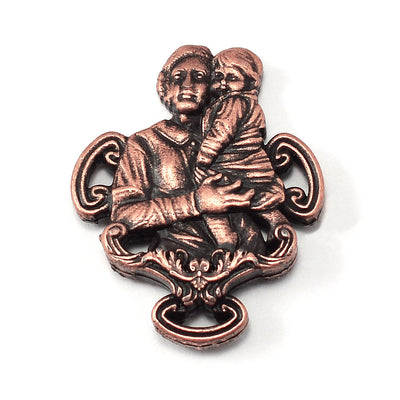 Saint Gianna Beretta Molla Rosary in Antique Copper