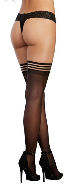 Strappy Top Sheer Thigh High O-s