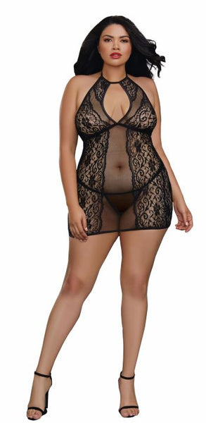 Chemise & G-string Dmd O-s Queen