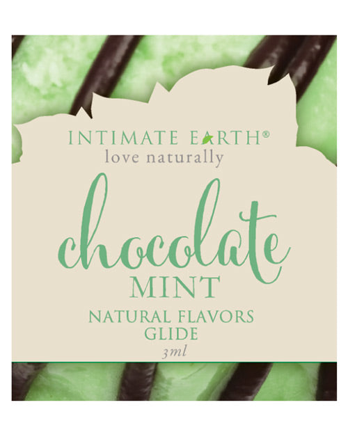 Intimate Earth Chocolate Mint Glide Foil Pack 3ml (eaches)