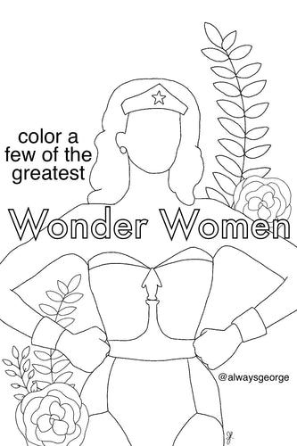 Wonder Women - International Women's Day coloring book