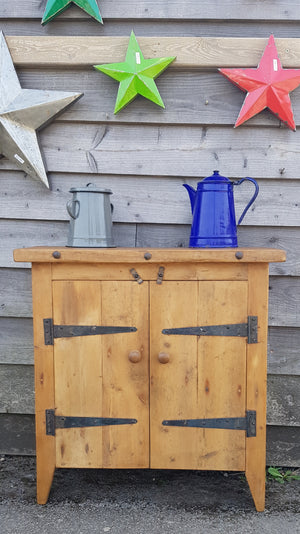 Two door pine cupboard