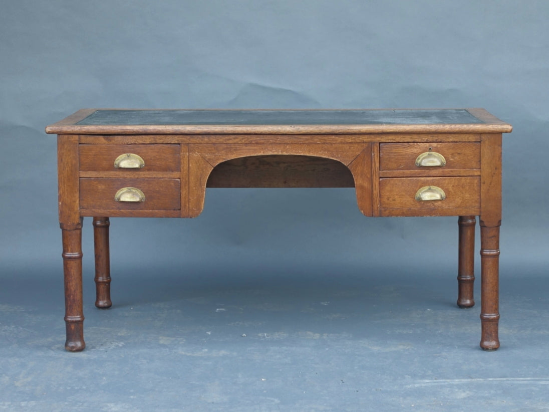 Large 1920s oak office desk