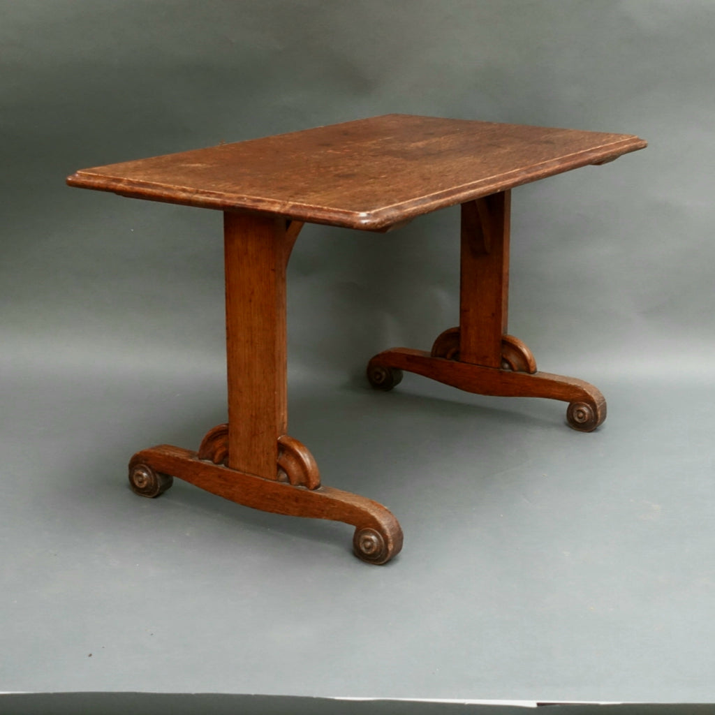 Unusual Victorian oak coffee table